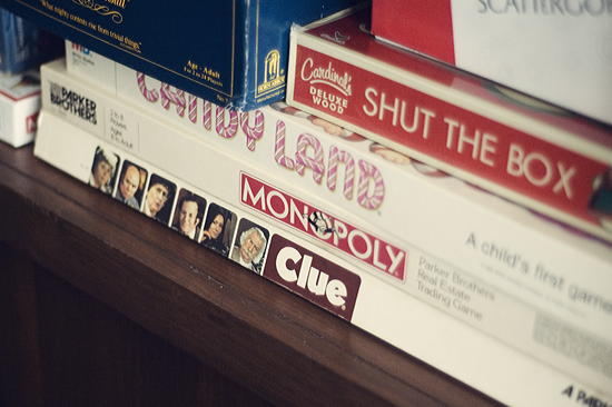 Board Games Bookshelf © Kendra Kantor