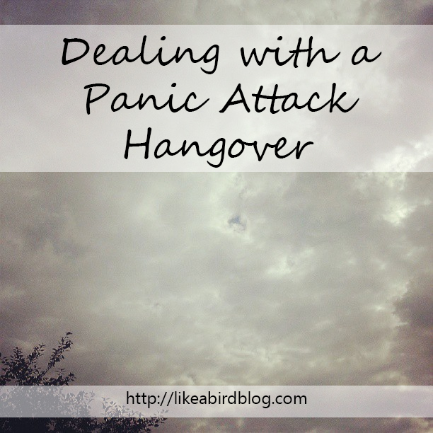 Dealing with a Panic Attack Hangover